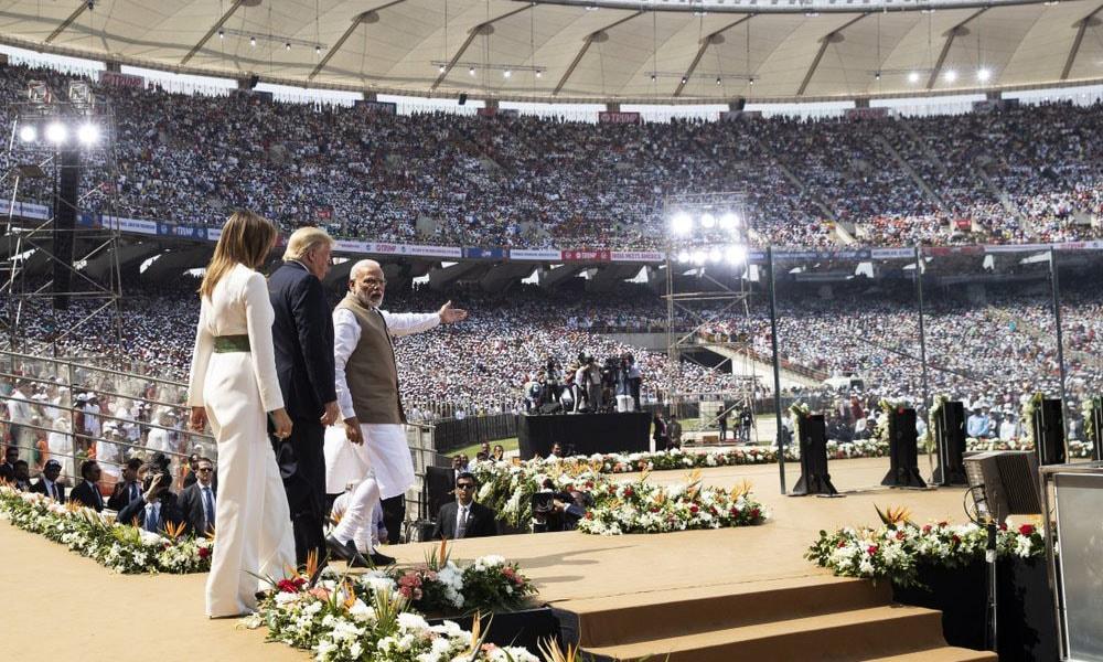 Modi and Trump in Ahmedabad