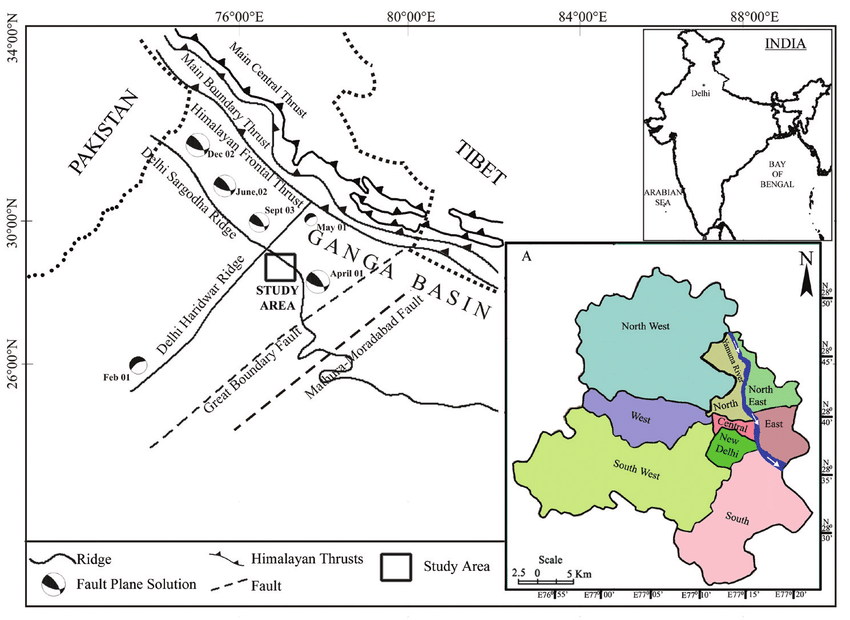 டெல்லி நில அதிர்வுப் பகுதி