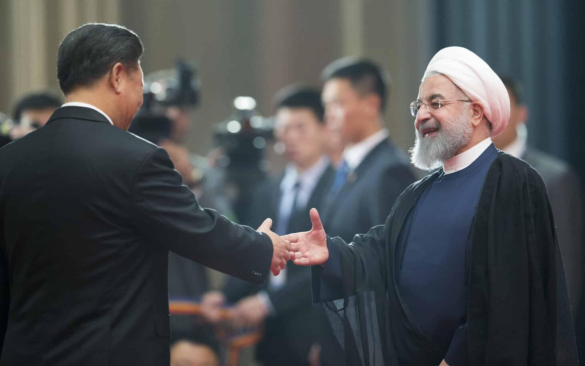 Xi Jinping and Hassan Rouhani