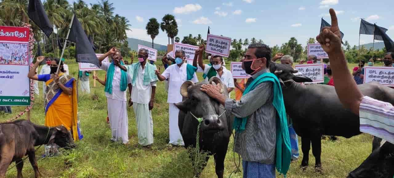 IDPL Pipeline farmers protest